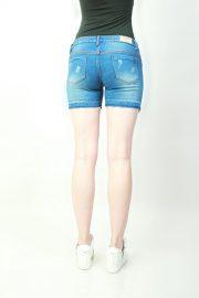 Hotpants Frayed Light Blue (back)
