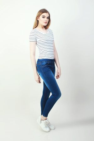 Jeggings Sateen Indigo (pose)