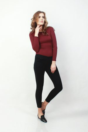 Jeggings Sateen black (pose)