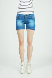 Hotpants frayed deep sky blue 2