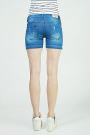Hotpants frayed deep sky blue 4