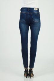 Skinny highwaisted sateen navy spray 4