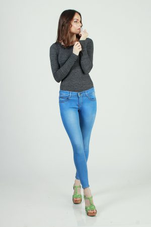 Skinny sateen ice blue 1