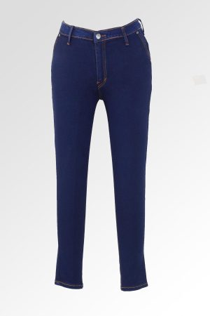 Skinny Sateen Hidden Pocket Jumbo Navy 1
