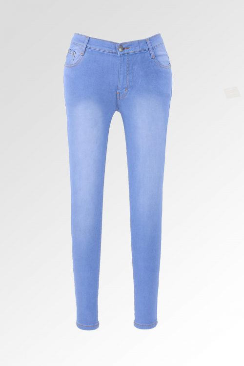 Skinny Sateen Jumbo Ice Blue 1