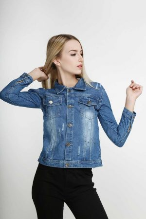 Windy-Denim-Jacket-Deep-Sky-Blue-(pose)